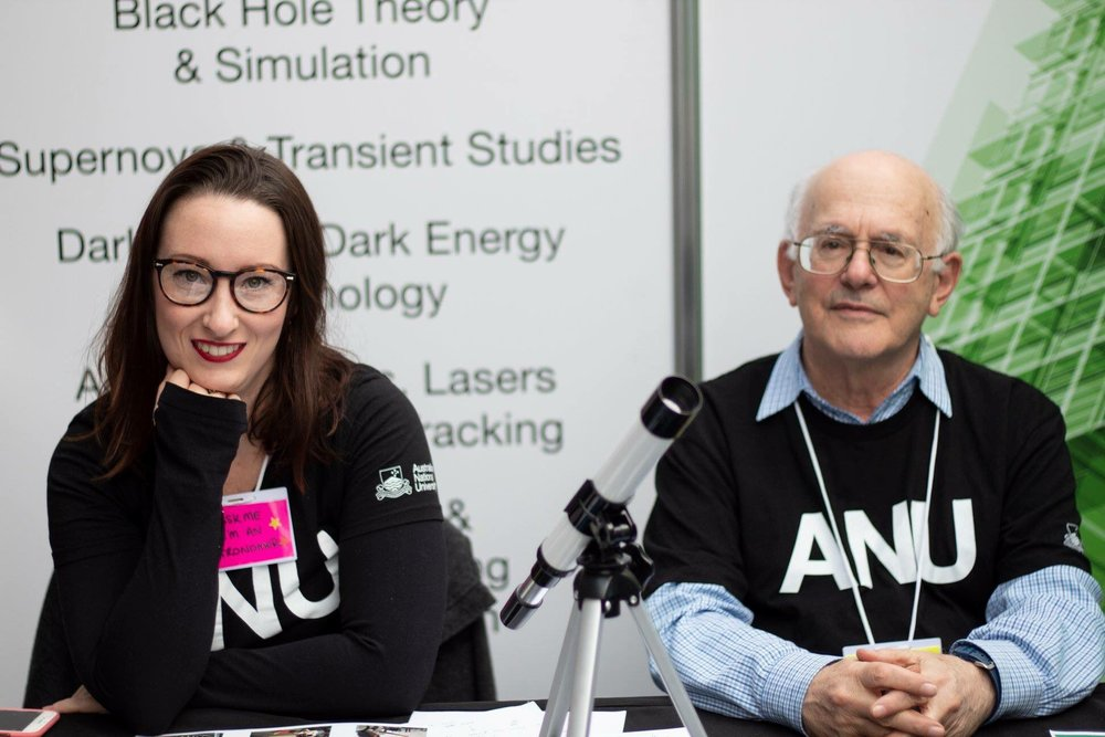 With Prof. Ken Freeman at the ANU Open Day 2018