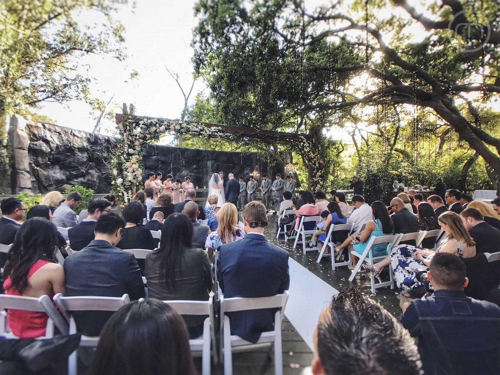 Calamigos Ranch Oaks Room Wedding Ceremony