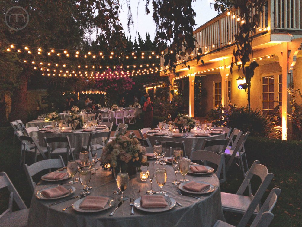 Outdoor Air BnB Wedding Woodland Hills Reception