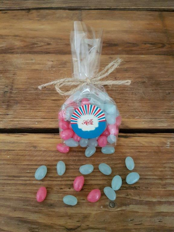 Personalised Sweet Bag with Jelly Beans