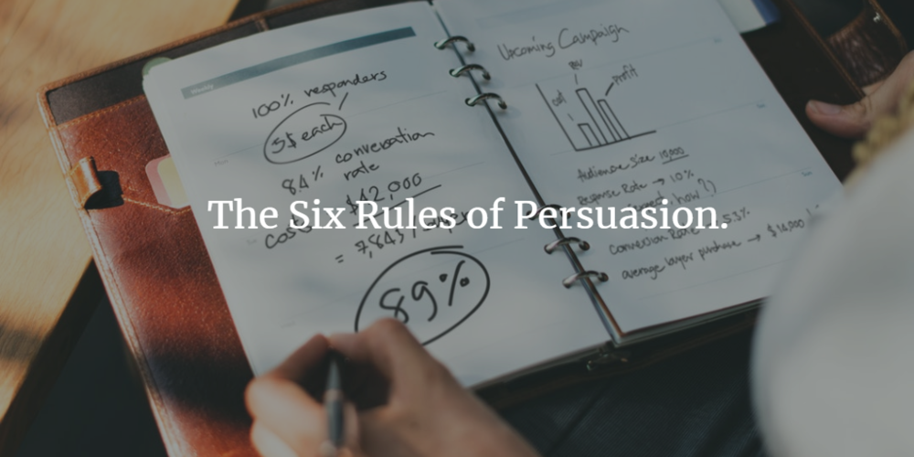 Business Marketing and the six rules of persuasion.