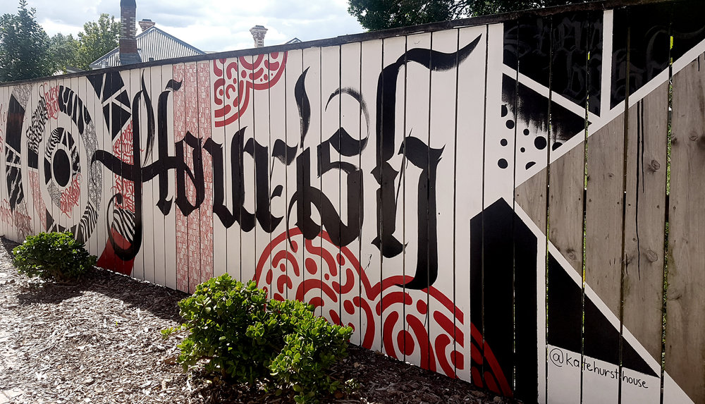 Kate Hursthouse Mural // Flourish // White Night Auckland, New Zealand