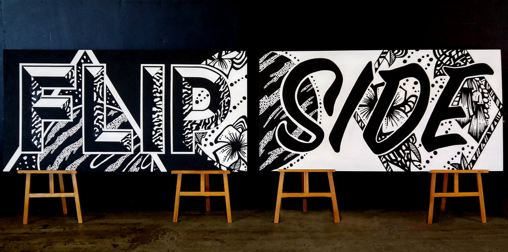 Kate Hursthouse Mural // Flip Side // TEDx Auckland, New Zealand