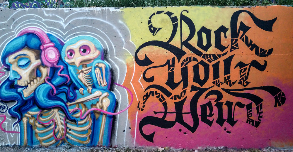 Kate Hursthouse Mural // Rock Your Weird // Austin, Texas