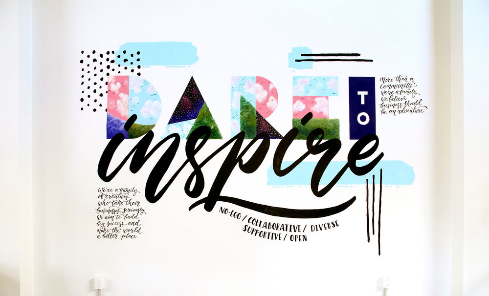 Kate Hursthouse Mural // Dare to Inspire // The Workshop, New Zealand