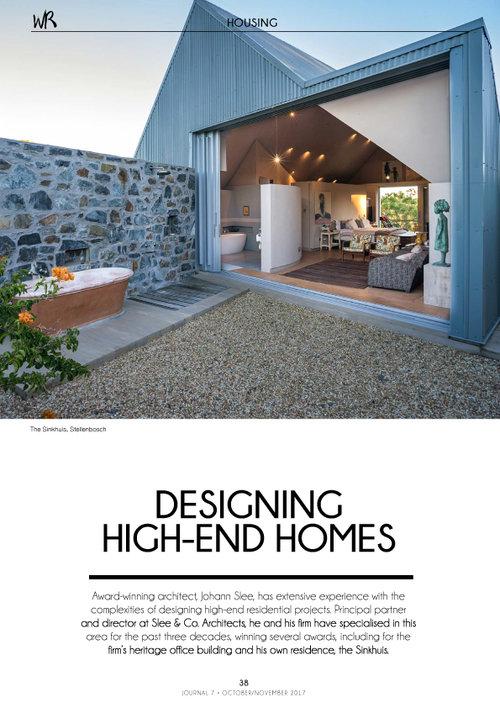 winning designing your own house. Walls Vol 18 7 October November 2017 Page  designing high end homes slee co