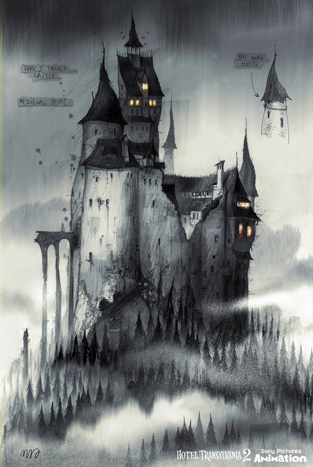 Before it was decided that Vlad would live in a cave, we explored his castle a an iconic gothic vampire castle.