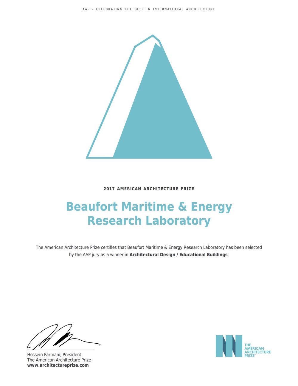 AAP Award Cert_Beaufort.jpg