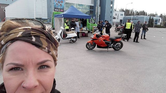 Training day #motorbike #kawasaki̇ #friends #drivingschool #bike