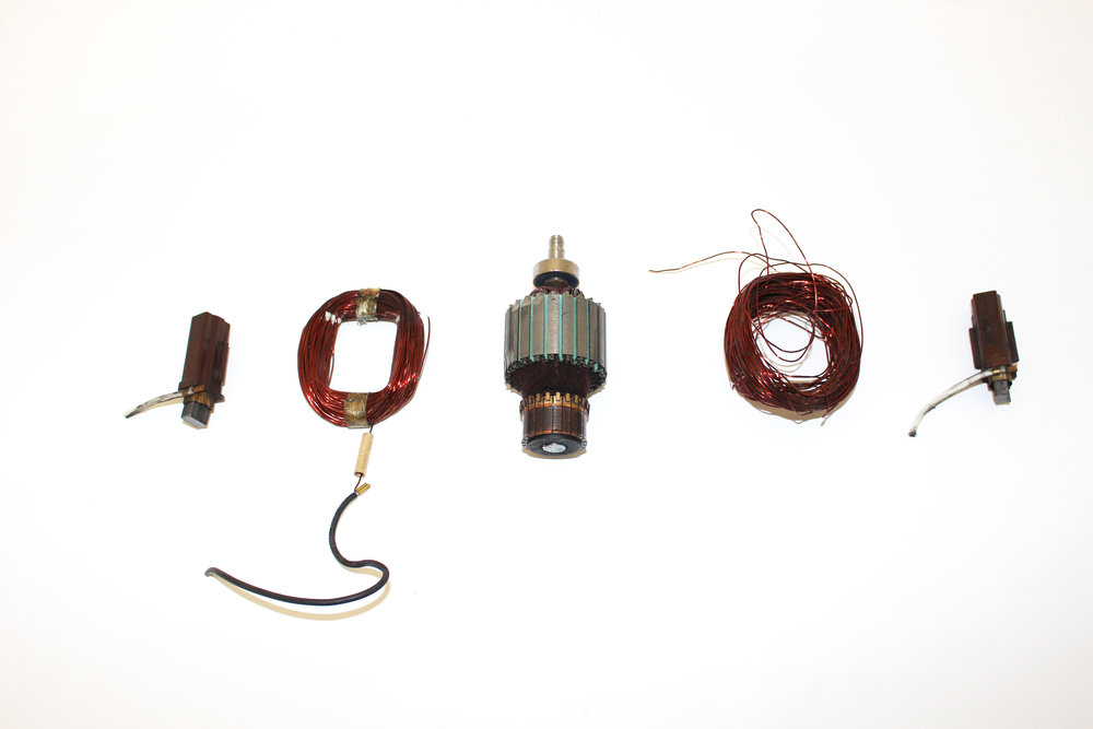 Disassembled Electric Motor