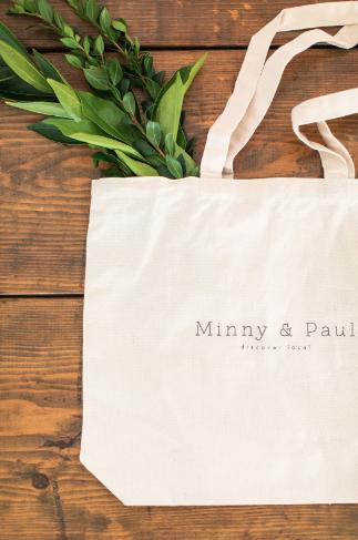 Minny & Paul Tote Bag