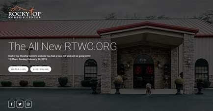 Rocky Top Worship Center's website has a face-lift and will be going live at midnight on Sunday, February, 24th!!! www.rtwc.org