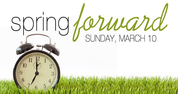 Don't forget to set your clocks forward this weekend! It's almost spring guys! Let's get ready to grow!