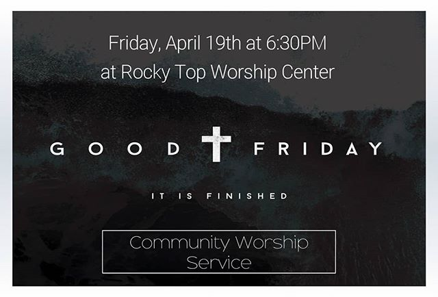 Our City Wide Good Friday service is at 6:30PM on Friday, April 19th. Everyone is welcome!