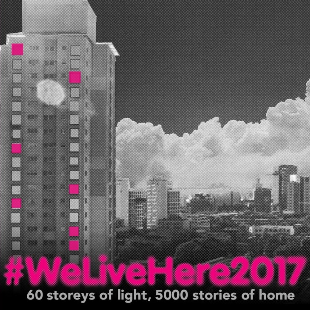 City of Sydney #WeLiveHere2017: 60 storeys of light, 5000 stories of home - If you have walked through Redfern or Waterloo lately, you might have noticed colourful lights appearing in the windows of Matavai and Turanga towers. It's part of #WeLiveHere2017: a community led art installation that aims to generate discussion about the people affected by urban renewal projects.The project transforms the towers into a beacon to the community, powered by the people themselves. more