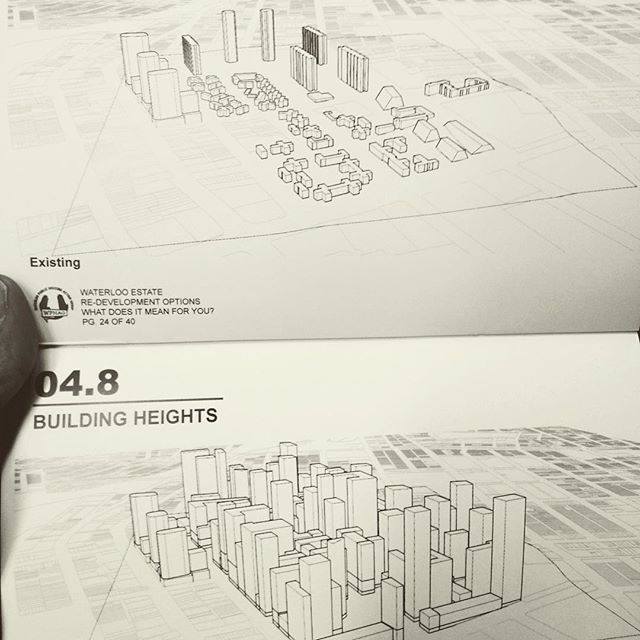 We are in shock. Waterloo before and after, option 1 render by @vigilantidesign with @wphag download their full analysis - the link is in our bio!! This is what one might term a clusterfuck. #overcrowding #community #publichousing #affordablehousing #whorememberssky #redfernlyf #welivehere2017 #waterloo #reclaimthestreets #publicland #housing #planningontherun