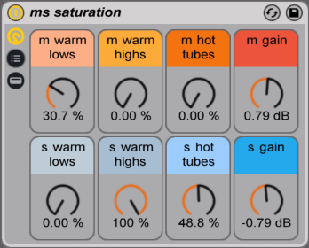 mid side ableton rack saturation