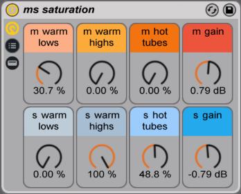 mid side ableton rack saturation