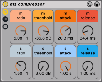 mid side processing compressor