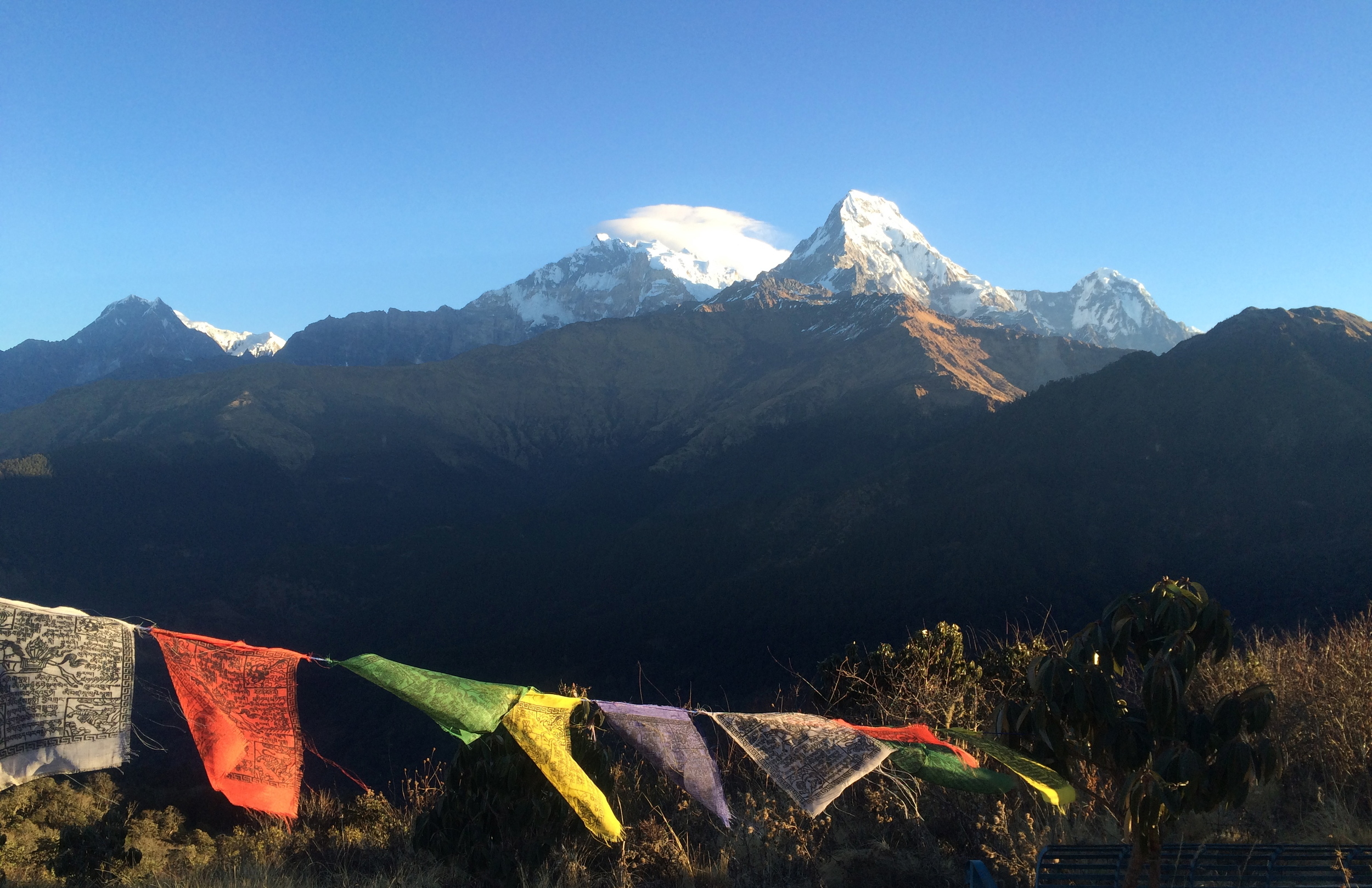 Prayer flags in the Annapurna Sanctuary, Nepal