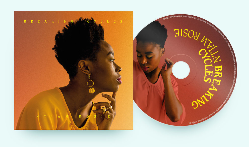 Front of album cover and CD