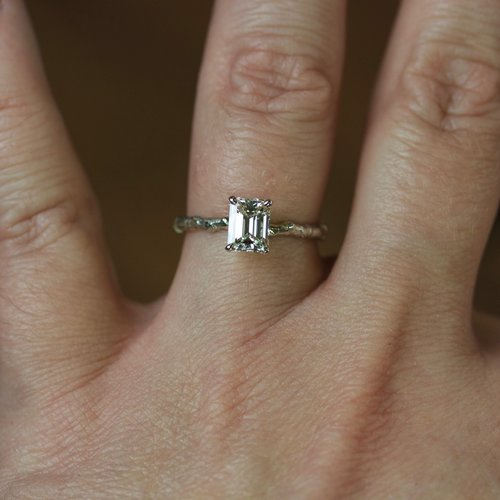 baguette gold set white diamond bridal princess engagement ring wedding trending diamon cut halo