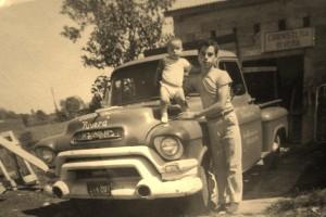 Adjunto la foto de Carlos M. Rivera y su tio Jose Soto, en el primer edificio de Ebanisteria Rivera localisado en la calle San Narciso # 106 en Aguada, Puerto Rico.