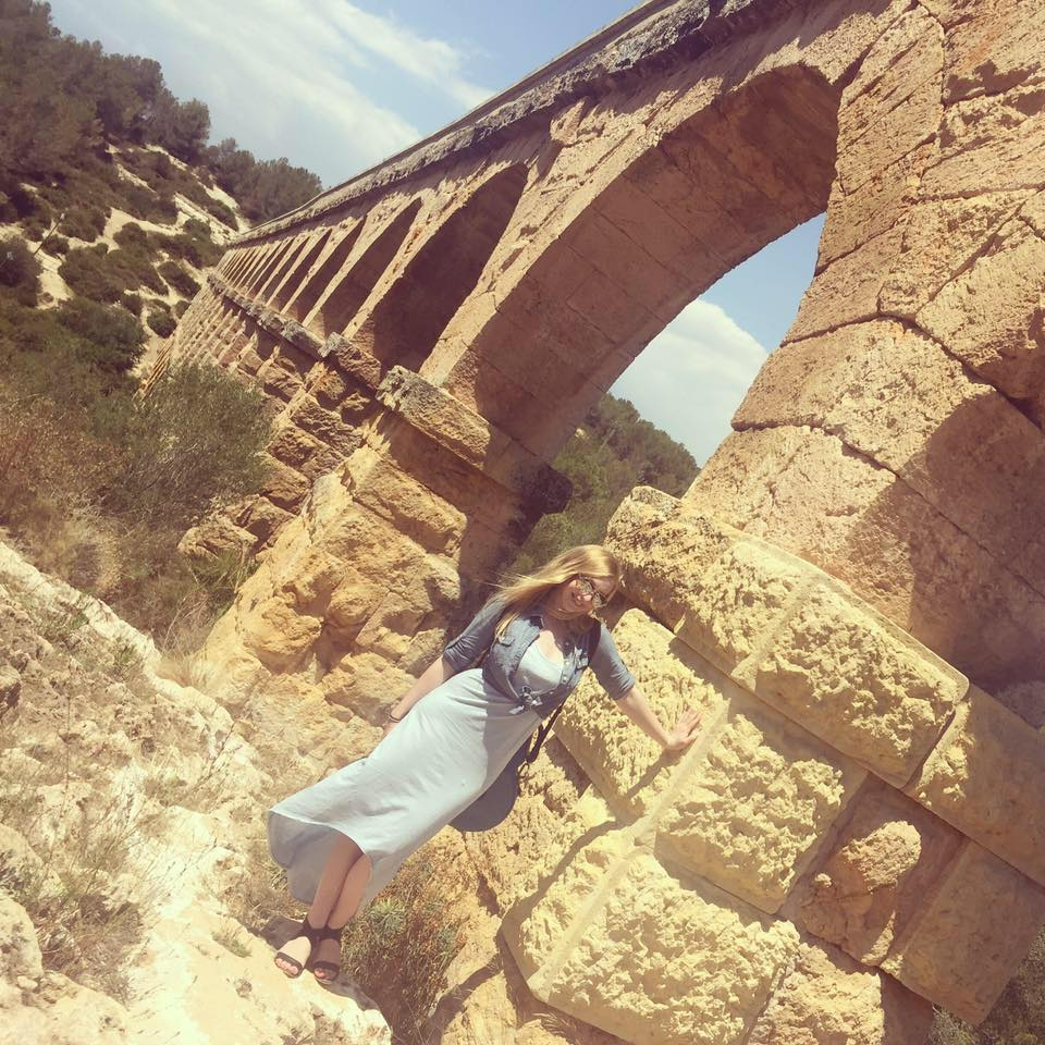 See the case on my back as I pose by a Roman aqueduct in Spain? Yeah...