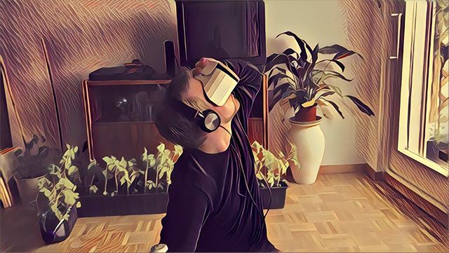 Marco in the shell by @kata.dumur  #vr #virtualreality #munich #music #electronicmusic #lost #retro #vintage