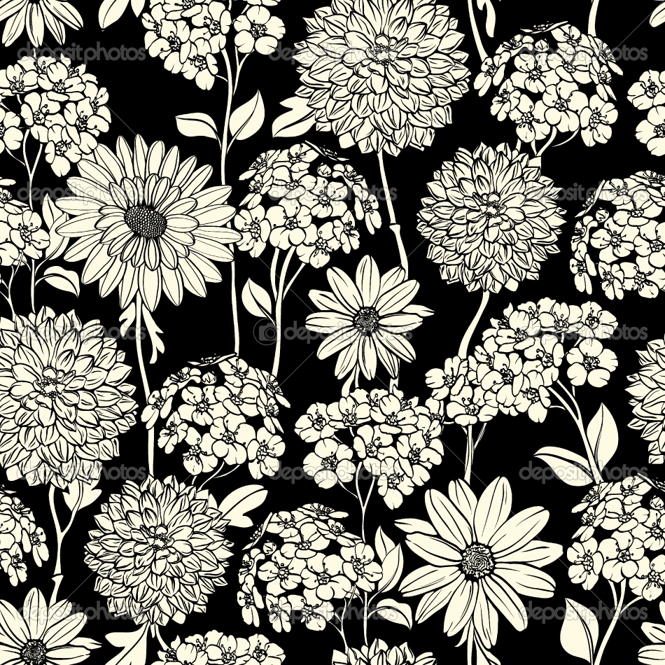 depositphotos_8505499-Black-and-white-floral-seamless-pattern