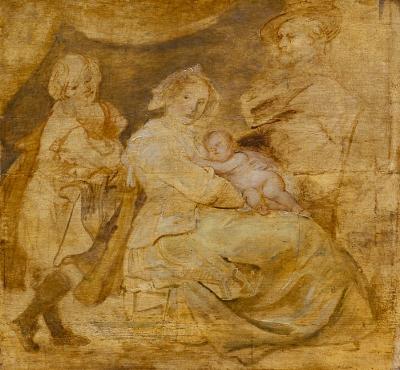 Paul Peter Rubens underpainting