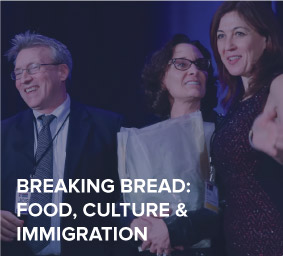 This plenary will explore the longstanding role of food as a facilitator of cultural exchange and a pathway to immigrant cultural and economic power. We will discuss food and cuisine as a way to bring people together, as well as immigrant small businesses and entrepreneurship in the industry.