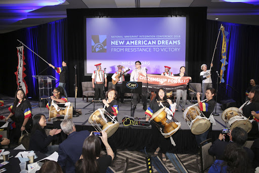 Grupo Etnia traditional Peruvian musicians and NAKASEC and KQT DC traditional Korean pungmol drumming kick off NIIC 2018.