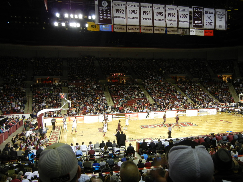 The Mullins Center which is the home for Umass Basketball and Hockey