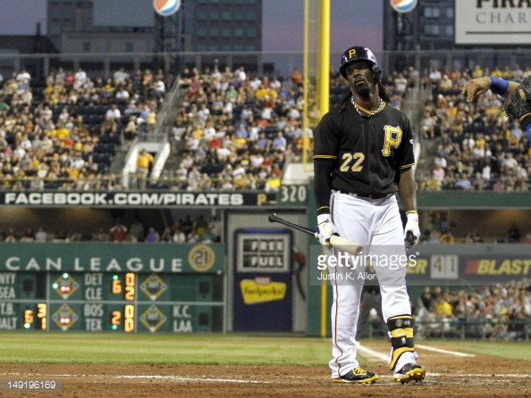 McCutchen is hitting at a clip of .238, with 10HR and 28RBI