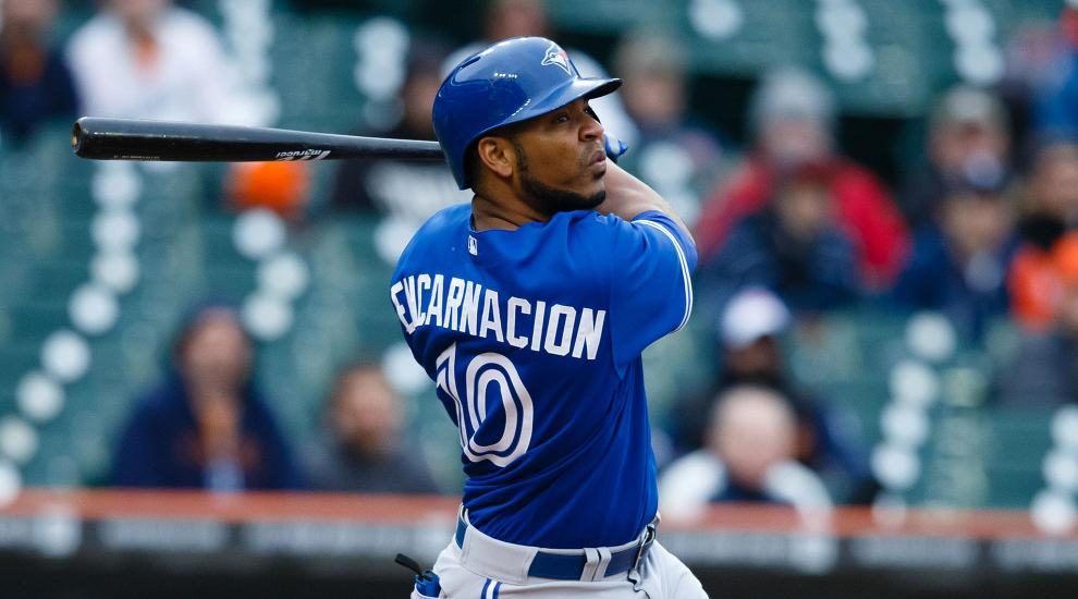 In 2016, Encarnacion is batting .268, with 35HR and 101RBI