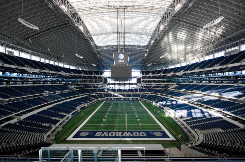 Costing $1.1B, Jerry's World was funded by a 5% hike in car rental tax, 0.5% in sales tax, and 2.5% in hotel tax