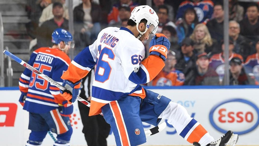 Josh Ho-Sang's first goal against Edmonton on March 7, 2017.