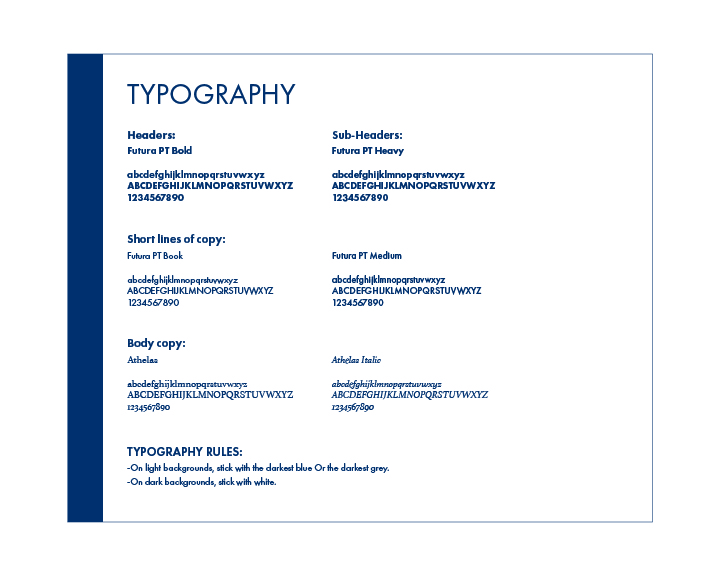 Style Guide Typography