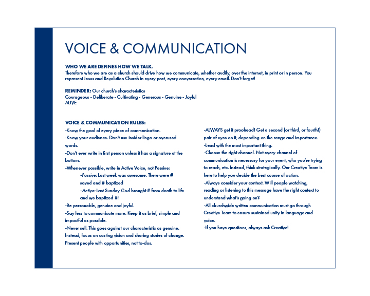 Style Guide Voice & Communication