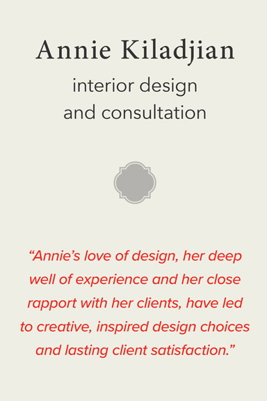 Annie Kiladjian's love of design