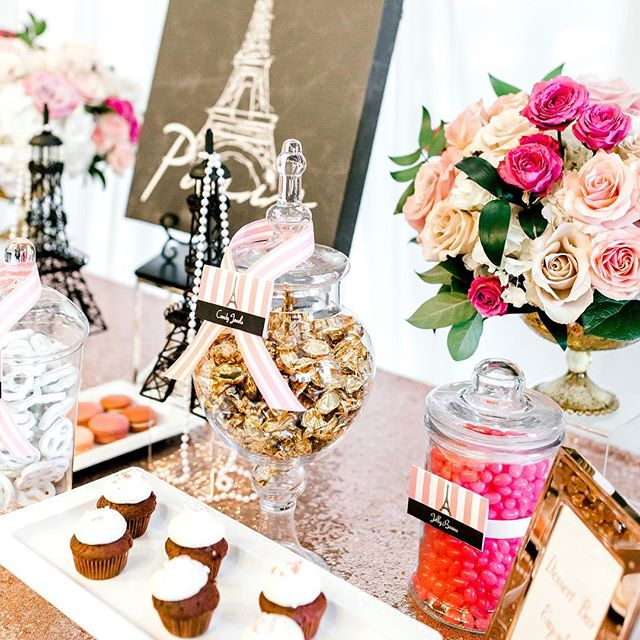 Good Morning!! Woke up craving @fluffythoughtscakes mini red velvet cupcakes! 😋 Talk about delicious and moist bite sized treats! These cupcakes were the perfect touch to our Paris themed dessert table. 📷 @jontellvanessa l 🌸 @embellished_details l 🏷 @raisdesign  #raisdesigneventplanning #bridalshower #paris #desserttable #desserts #candybuffet #minicupcakes #redvelvet