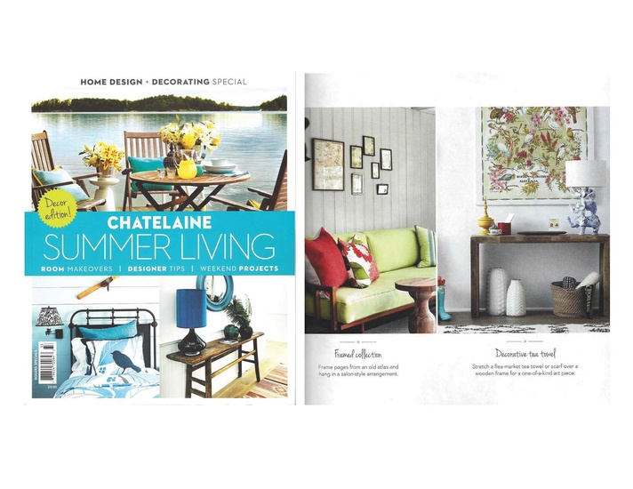 Qanūk Interiors styling work (image on the right) is featured in Châtelaine's Summer Living Special Issue.