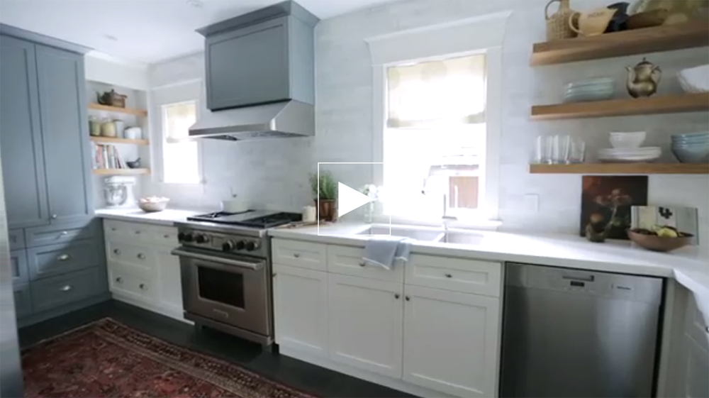 Sarah and Lindsay make the most of an outdated galley kitchen. Learn how tricks like removing upper cabinets and adding open shelving can make a kitchen seem larger.