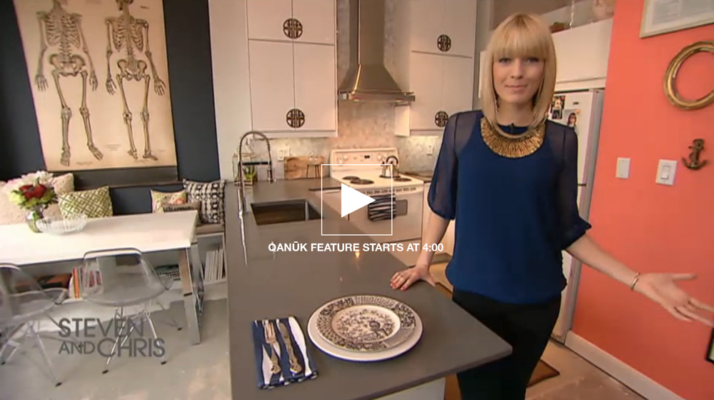 "Season 6, Episode 91 Sarah takes you on a tour through a super stylish ""big box store"" kitchen design + tips on how to create a vintage inspired kitchen. ALSO - Check out her tips for your own ""vintage inspired"" kitchen area HERE."