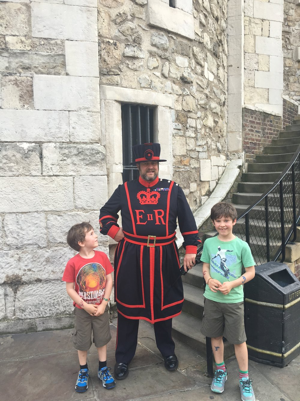 F's friend, the Beefeater.