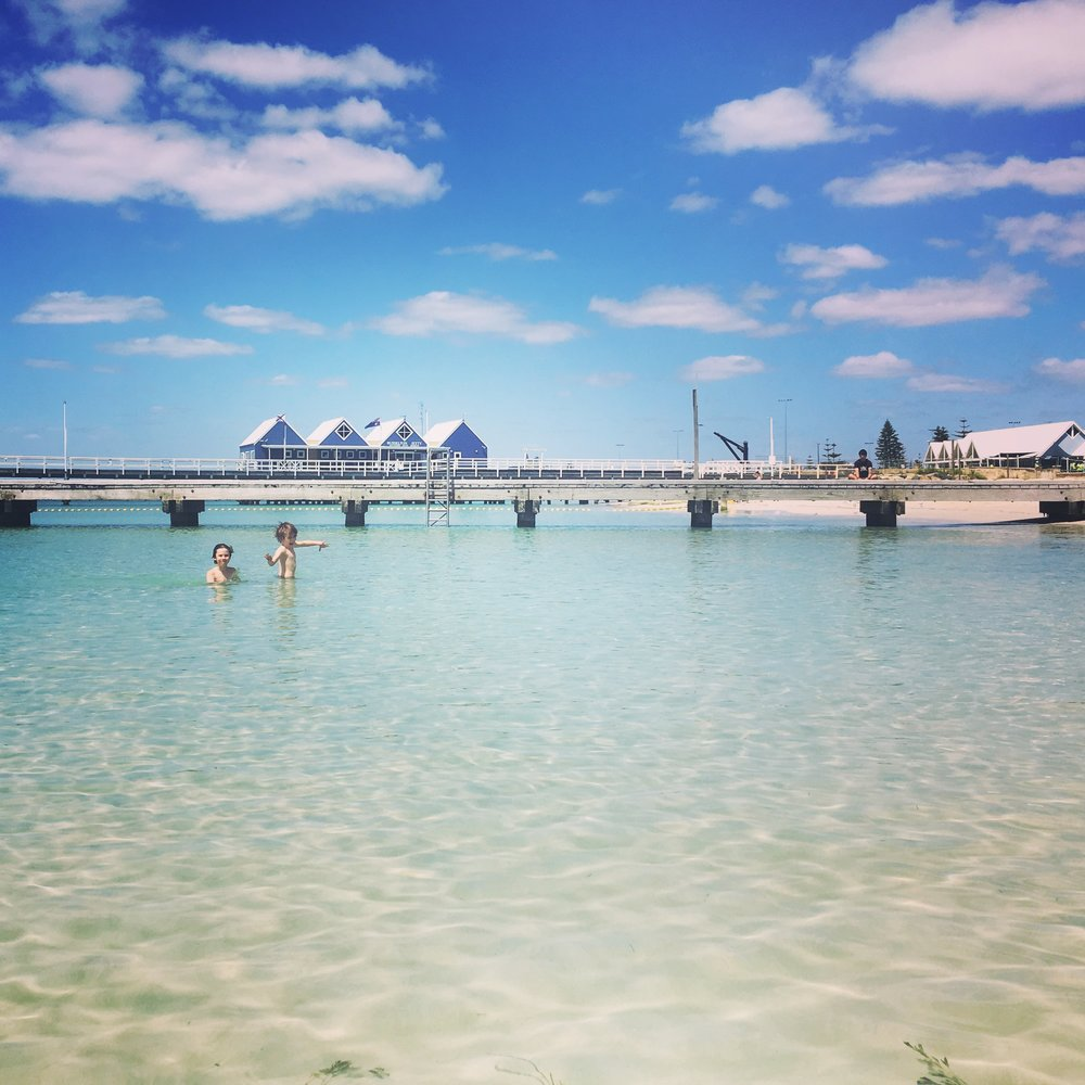 Busselton. Swimming near the jetty was free!