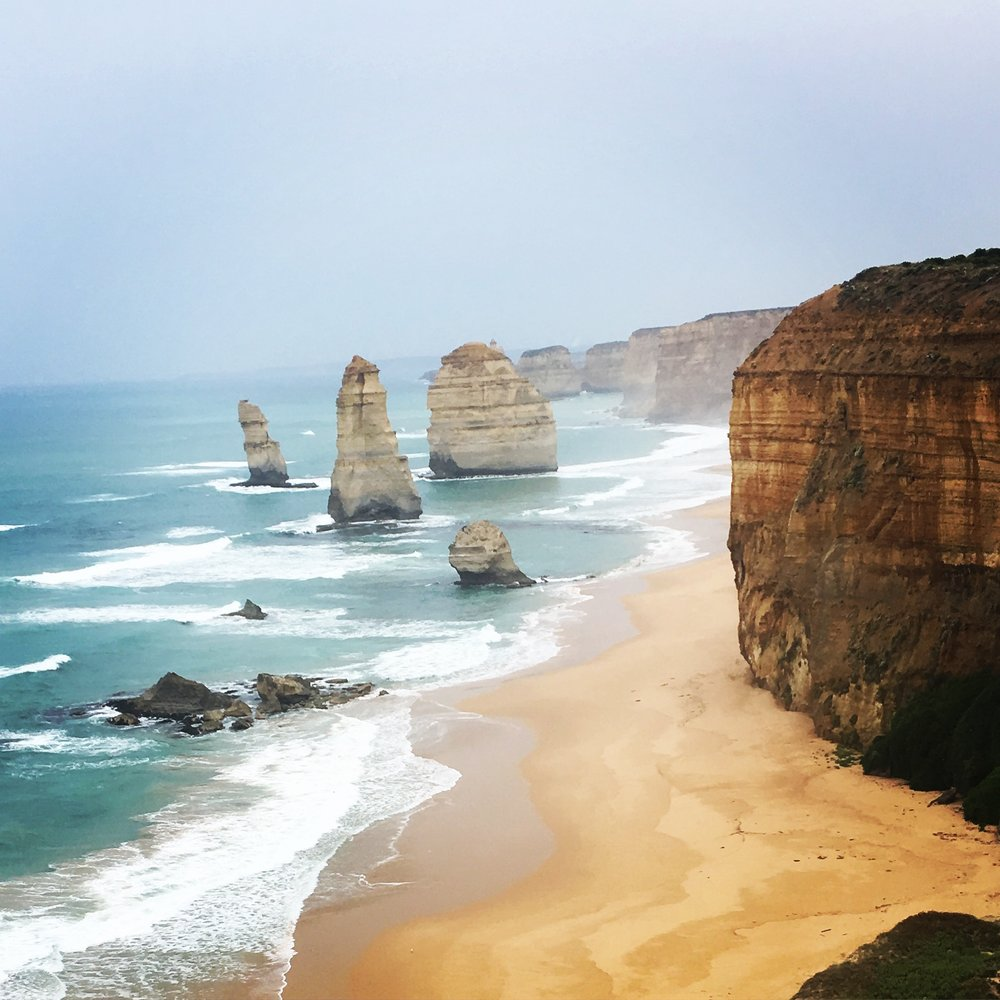 The 12 Apostles. There were GAZILLIONS of people there! Looks serene though doesn't it.