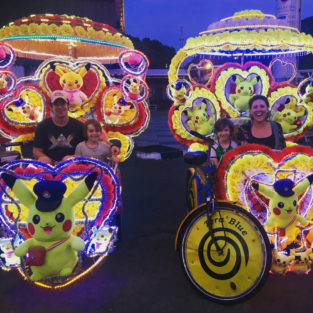 The crazy Rickshaws were covered in Pokemon/ Frozen/ Marvel comic characters and were lit up at night, blaring random music from a sound system as you go. The drivers were proud of their creations and keen to show us a good time.