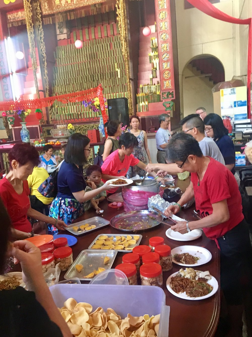 We were invited to stay for food at the Clanhouse to join in the Chinese New year celebrations.